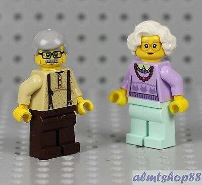 Grandma /& Grandpa Minifigure Combo Family City Town Female Series I LEGO