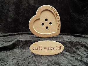 engraved wooden 200mm x 9mm Buttons MDF Button Heart with Cute as a Button