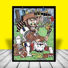 WEST VIRGINIA MOUNTAINEERS in football jersey SUGAR BOWL ART, wvu, artist signed