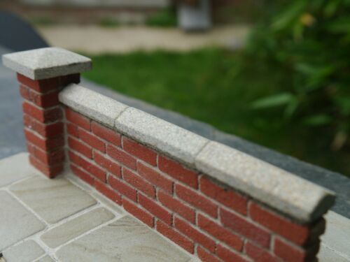 5 12mm REAL STONE Miniature Grey Single Wall Copings