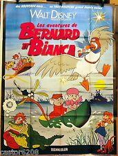 AFFICHE CINEMA 1977 LES Aventures de Bernard et Bianca Walt Disney