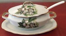 """Vintage Miniature Soup Tureen Japan """"A Price Import"""" Child's Gravy Boat Ladle B3"""