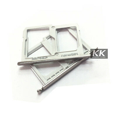 Original Nano SIM + Micro SD Card Tray Slot Holder For LG X Cam K580y K580I F690