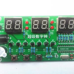 3ef09bbc2 La imagen se está cargando Reloj-electronico-6-Digitos-Rojo-LED-parada-Reloj -