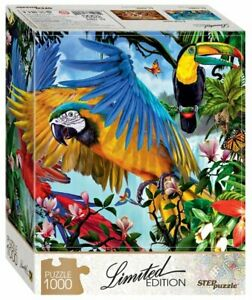 """Puzzles 1000 pieces 48*68 cm """"Parrots"""" Step Puzzle 79804."""