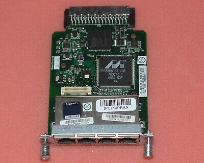 Genuine Cisco HWIC-4ESW 4 Port 10//100 Switch Interface Card 2 year Warranty Real