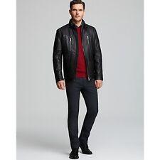 BOSS HUGO BOSS Neldo Waxy Leather Jacket 56