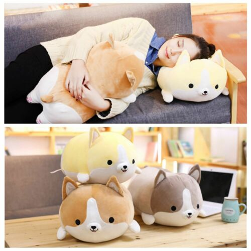 "35cm//14/"" Kawaii Cute Animal Soft Pillow Corgi Dog Doll Gift For Kids Plush Toy"