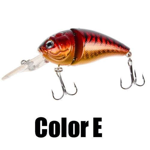 Eyes Portable Deep Diving 6# Hooks Fishing Lures Plastic Hard Crank Bionic Bait