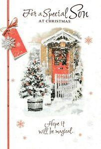 HUSBAND CHRISTMAS CARD****TRADITIONAL SANTA***** C6