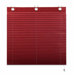 Plissee 130 Cm Breit : klemmfix plissee raffrollo rot klemmrollo oesenrollo 60 120 cm breit kadaro ebay ~ Watch28wear.com Haus und Dekorationen