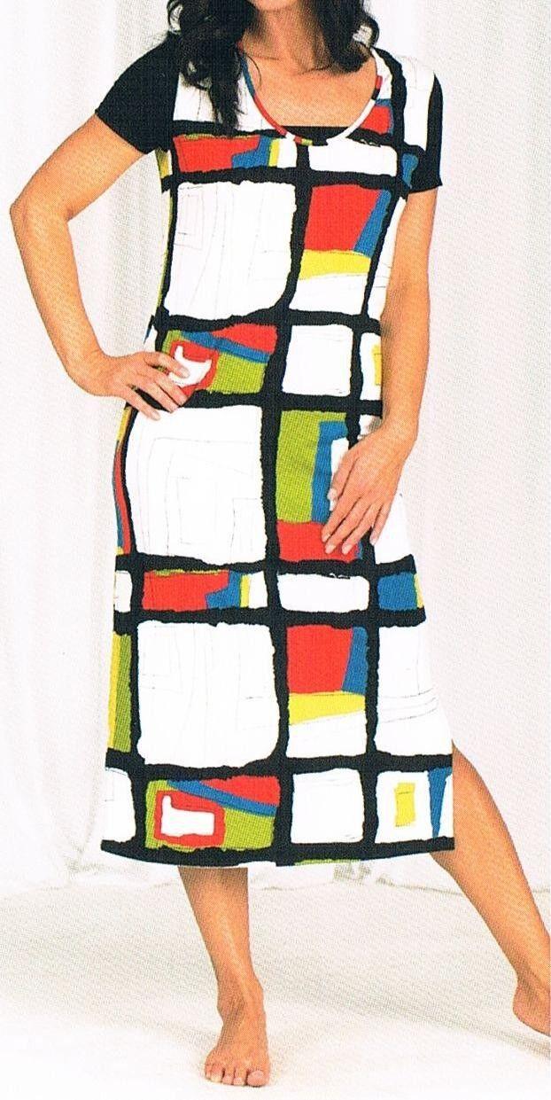 Kleid, Strandkleid, Badekleid, lang - schwarz   weiß   rot   grün 36 - 54