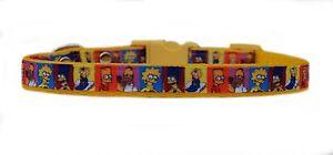 Amarillo-034-The-Simpsons-034-Perro-Pequeno-Cachorro-COLLAR-Y-o-conjunto-de-CORREA