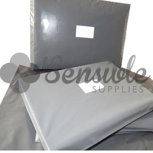 "100x Grey Mailing Postal Postage Mail Bags 7/"" x 9/"""