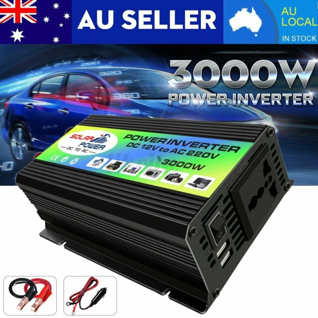 3000W Boat Car Converter Power Inverter DC 12V to AC 220V Invertor USB AU XH