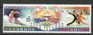 S22092) Cook Isl. 1994 MNH Olympic Games $5.00 1v