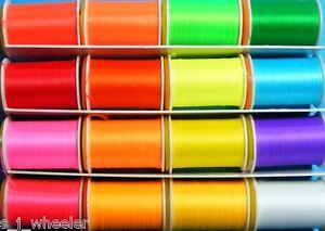Glo-Brite-fluorescent-Floss-16-Farben-91-44-Meter-100-Yard-Spulen