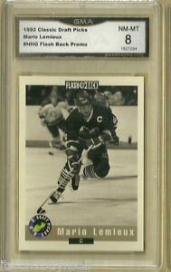 1992-Classic-Mario-Lemieux-Draft-Picks-NNO-Flash-Back-Promo-GMA-8-NM-MT-GRADED