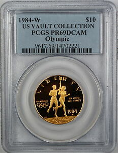 1984-W-10-Olympic-Gold-Commemorative-PCGS-PR-69-Deep-Cameo-US-Vault-Collection