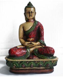 Kleine Buddha Statue aus Resin handbemalt