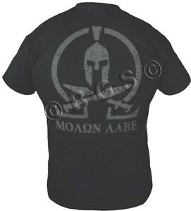 c493966a4a3 MOLON LABE shirt SPARTAN COME AND TAKE IT THEM BLACK SPEC OPS Pro ...