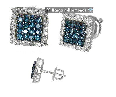 cocoa brown diamond .50 carat 10K gold stud screwback earrings men ladies