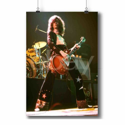 Jimmy Page Led Zeppelin Art Personalized Print Custom Poster Wall Decor