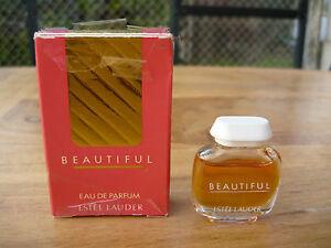 Miniature de Parfum : Estée Lauder - Beautiful - France - Type: Miniature Nombre de pices: 1 Sous-type: Eau de parfum Matire: Verre Genre: Femme Caractéristique: Plein - France