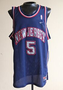 NIKE New Jersey Nets JASON KIDD VTG Rare Jersey Men Size 2XL Blue  568a29119