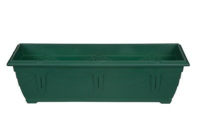 Window Box or Patio Planter 60cm Long Plastic Venetian Style Forest Green NEW