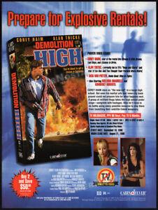 DEMOLITION HIGH__Original 1996 Trade Print AD / ADVERT__COREY HAIM__ALAN THICKE