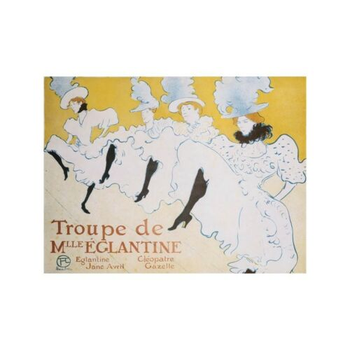 Poster Henri Toulouse-Lautrec The Troup of Madame Eglantine Stampa su Carta