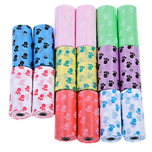 10X-Rolls-Pet-Dog-Puppy-Cat-Poo-Poop-Waste-Disposable-Clean-Pick-Up-Bags-D