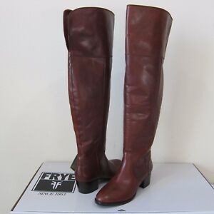 4d4c77ff04b Image is loading FRYE-Clara-Over-the-Knee-Leather-Boots-528
