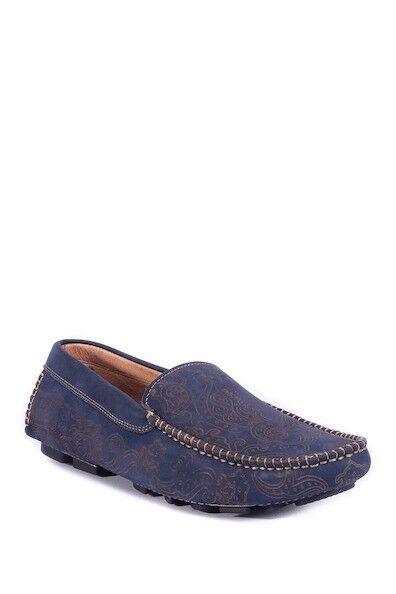 NIB Robert Graham RGS5036 Neo Navy Suede Men's Loafer Size 9