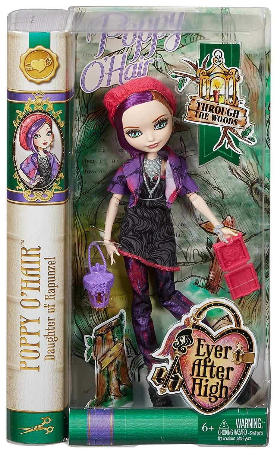 Ever After High por el bosque muñeca amapola Hair  nuevo