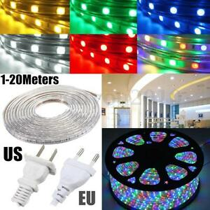 1 20m 5050 led flexible tape rope strip light xmas outdoor waterproof 110v 220v ebay. Black Bedroom Furniture Sets. Home Design Ideas