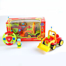Cartoon RC Radio Control Construction Truck + Figure n Sound Toy Toddlers RED NW