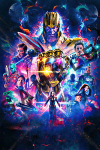 Avengers 4 12x18 End Game Movie Poster Stan Lee Marvel Comic Thanos