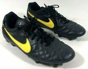 Embajador alondra dueña  Nike Tiempo 509085-080 Black Yellow Soccer Futbol Cleats Shoes Men's 12 US  | eBay