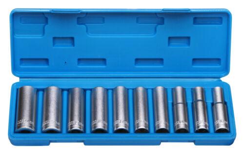 "10 Nüsse Steckschlüssel Lang Nuss 1//2/"" 10-24 mm Langnüsse Werkzeug"