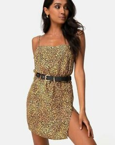 MOTEL-ROCKS-Datista-Slip-Dress-in-Mini-Tiger-Brown-XS-mr66