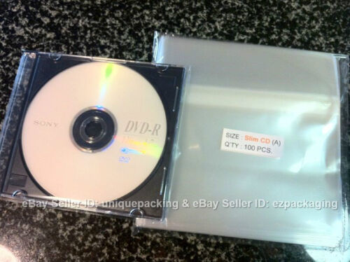 300 Pcs 5 7//8 x 5 1//8 Clear Slim CD Case Cello Cellophane Poly Bags Sleeves