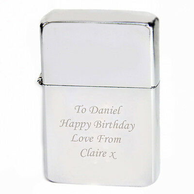 Birthdays, Personalised Engraved No.1 Dad Lighter- Silver Red Blue