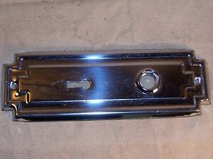 Polished Chrome Replacement Escutcheon for Antique Mortise Door Lock Back Plate