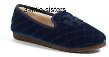 NEW Tory Burch Billy 2 Blue Velvet Grosgrain Loafer Slipper Shoes 10 NIB