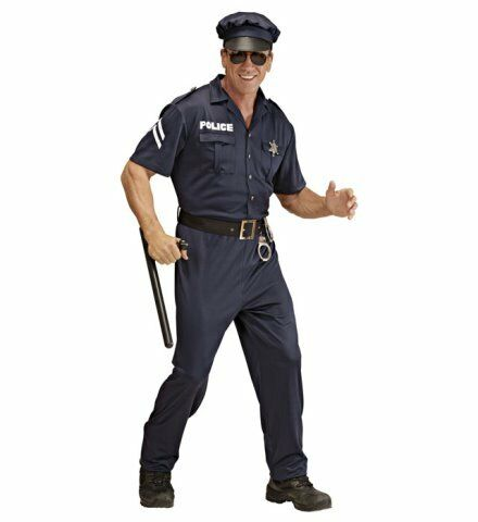 Polizist Streifenpolizist Polizeikostüm Kostüm Polizei Männerkostüm Gr L neu