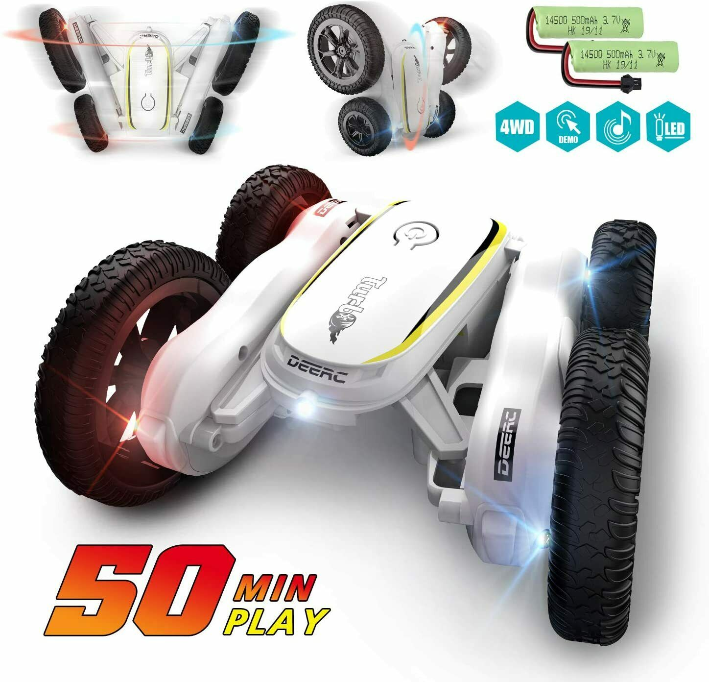 Jjrc D828 Remote Control 360 Spin Toy Car 2 4g 4wd Double Sided Stunt Rc Car For Sale Online Ebay