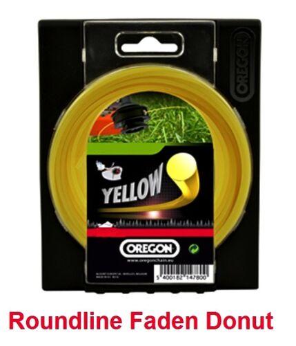 Motorsense Freischneider Mähfaden Oregon Roundline rund gelb 3,5mm x 40 m Yellow