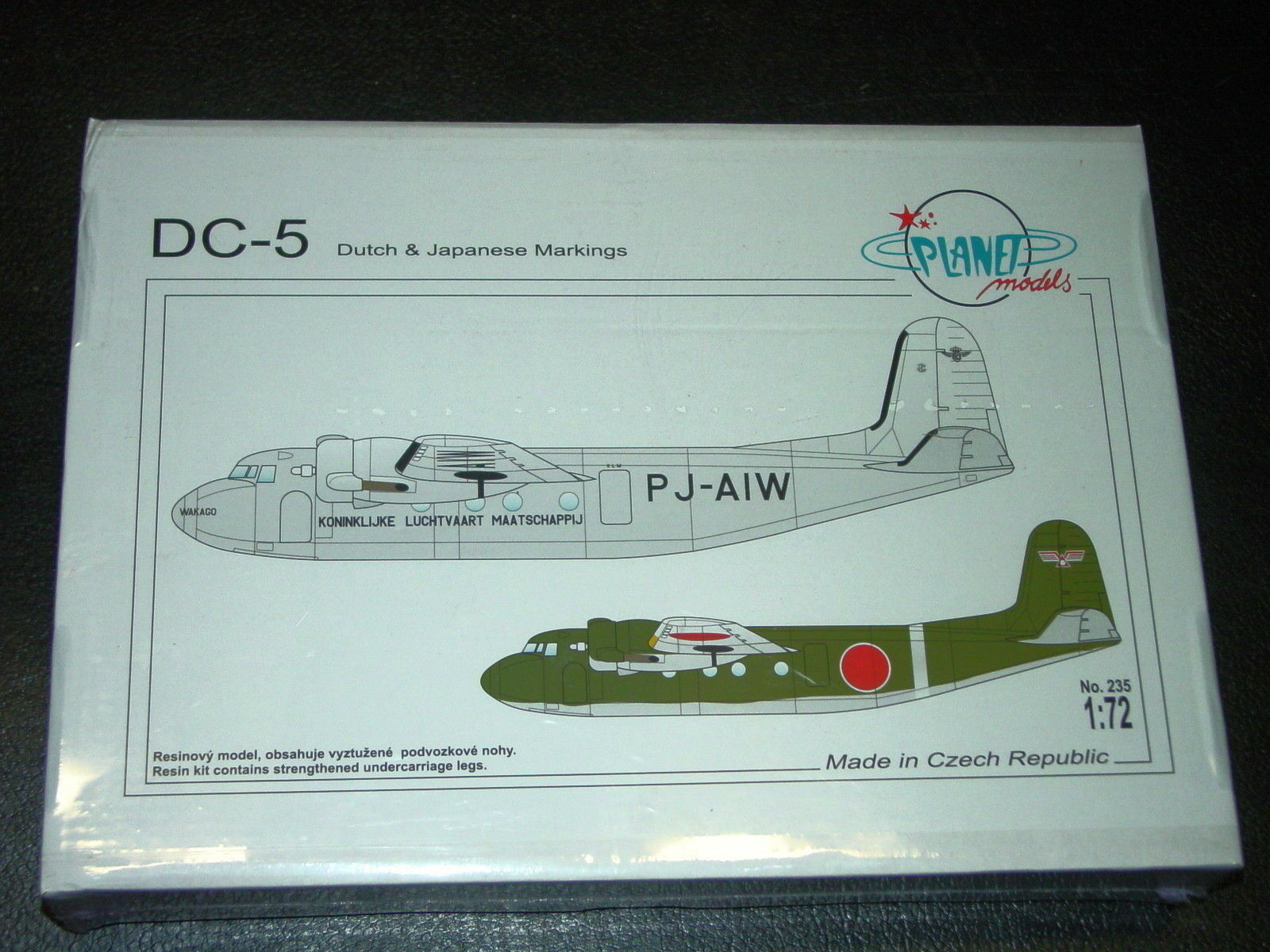 Douglas DC-5 American Airliner Dutch and Japanese WW II  Planet Resins 1 72